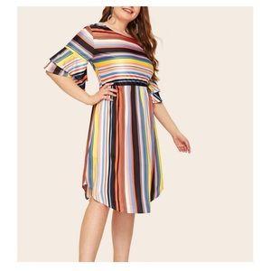 Dresses & Skirts - ➕Multicolor Flare Sleeve Dress